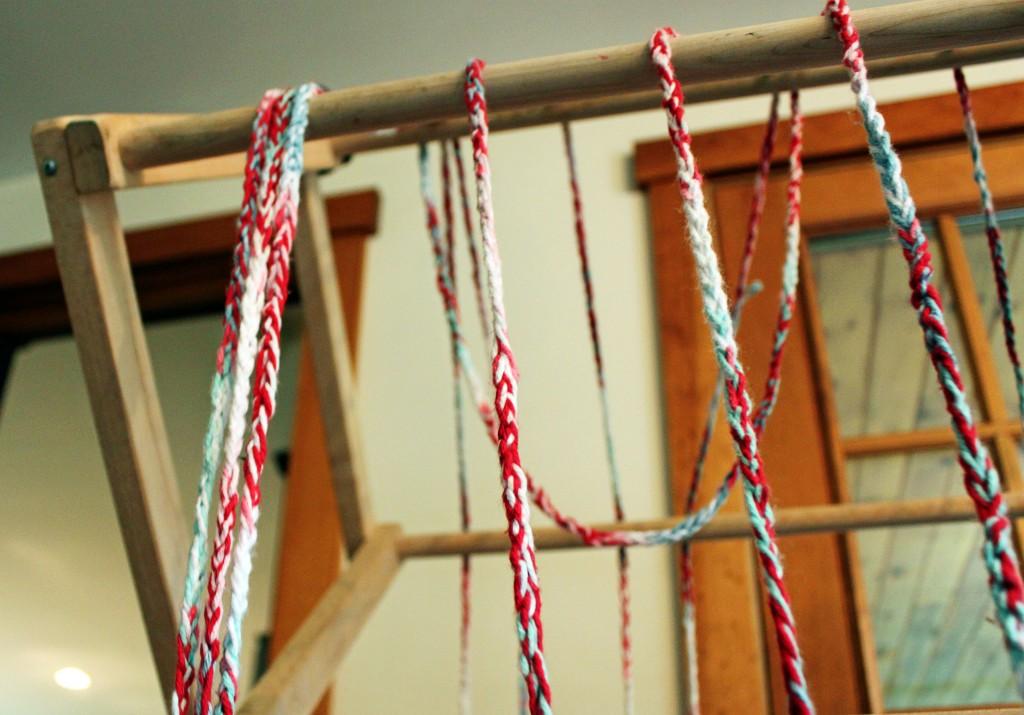 hanging knitting