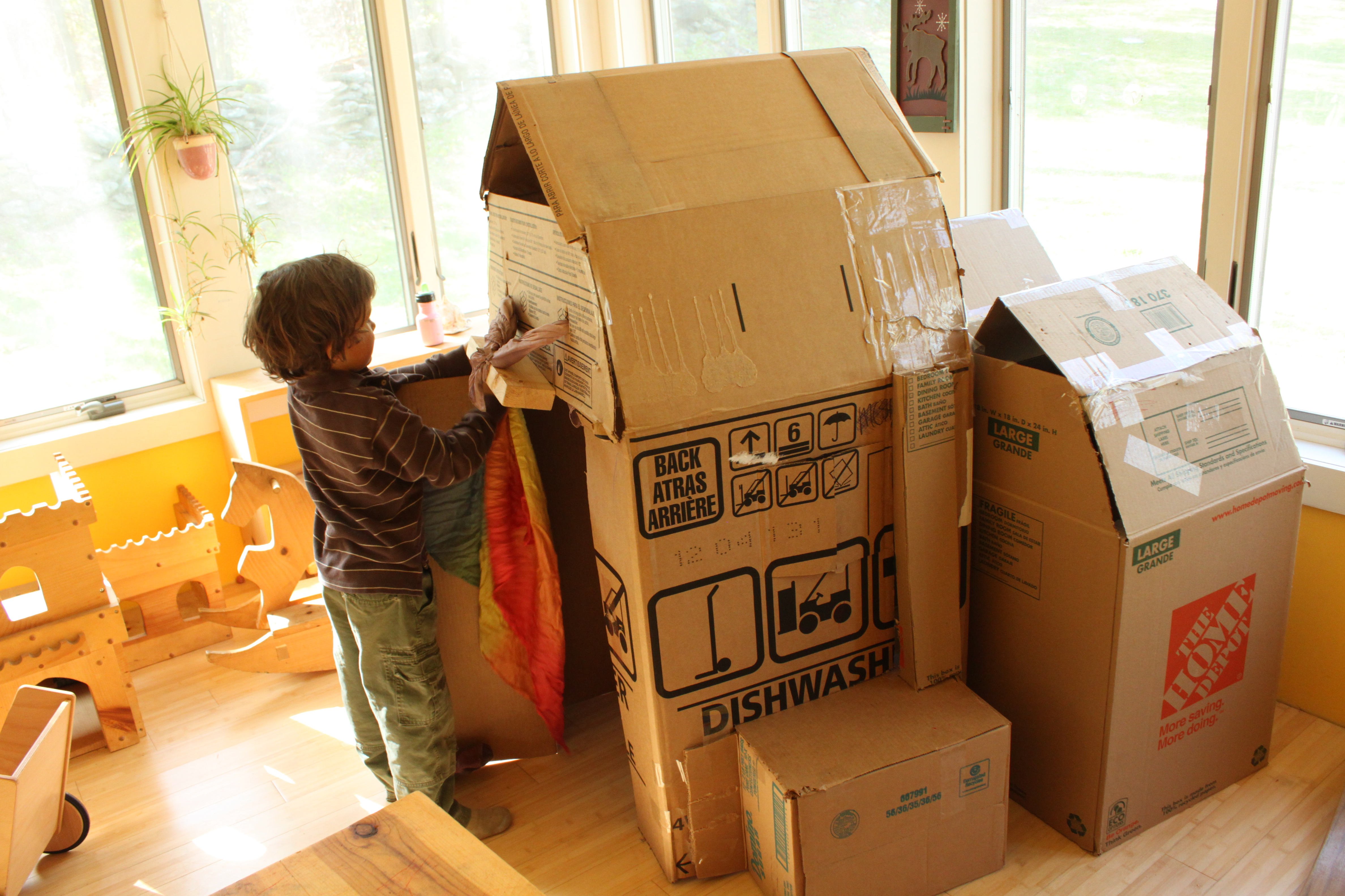 how to make a house from a box